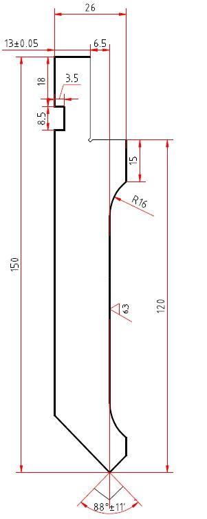 Стандартный пуансон WC67K 63/2500